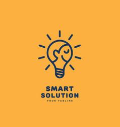 smart solution logo vector image