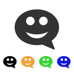smile smiley message icon vector image