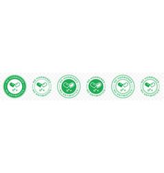 Sticker no hormones no antibiotics 5 vector