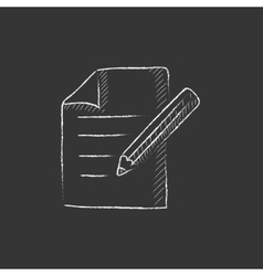 Taking note Drawn in chalk icon vector image