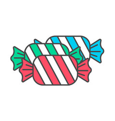 Tasty sweet candy icon vector