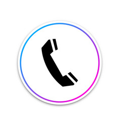 telephone handset icon on white background vector image