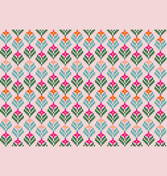 Tribal flower seamless pattern ethnic style vector