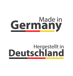 Two simple symbols made in germany vector