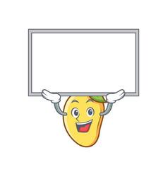 Up board mango character cartoon mascot vector