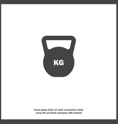 Weight icon weight symbol on white isolated vector