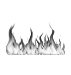 wide black fire flames on white vector image