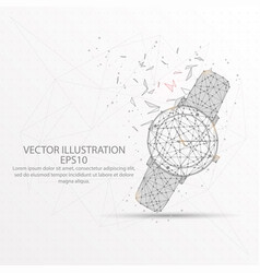 woman watch low poly wire frame on white vector image