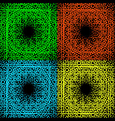 a set of four geometric patterns vector image vector image