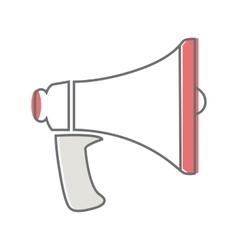 Loud Speaker Isolated on White Video Marketing vector image