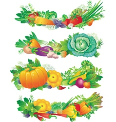 banners with vegetables vector image