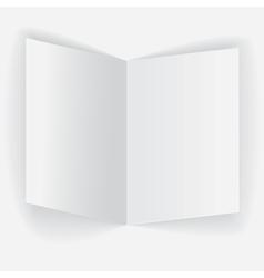 Folded paper sheet vector image