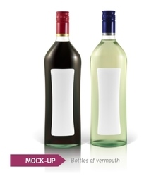 Mockup martini bottle vector image vector image