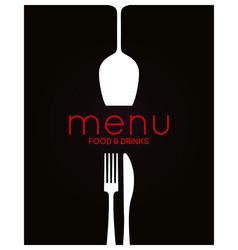 restaurant menu design food and drink background vector image