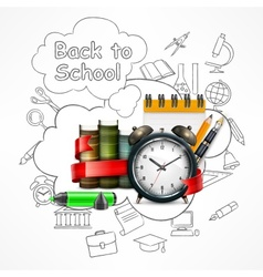 School time Sketch vector image vector image