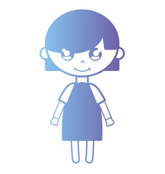 silhouette girl with dress and hairstyle design vector image vector image