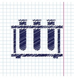 test-tube vector image