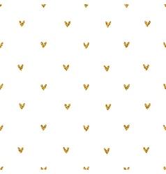 Golden glitter hearts pattern vector image