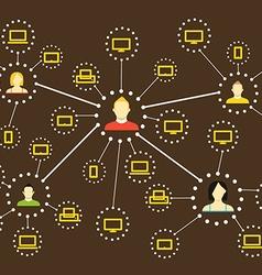 Modern web social media network scheme Flat design vector image vector image