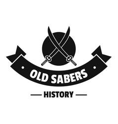 old saber logo simple black style vector image