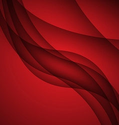 Red modern abstract lines swoosh certificate - vector image vector image