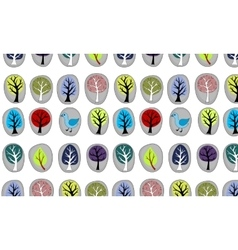 seamless with abstract trees vector image