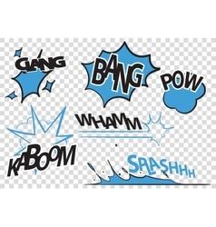 Set of pop art comic vector image