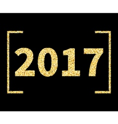 2017 New Year type in Golden glitter style on vector image vector image