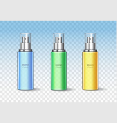 cosmetic bottle can sprayer container set vector image