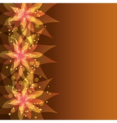 Floral background with decorative flower vector image vector image