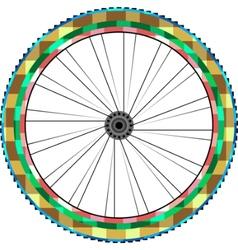 front wheel vector image vector image