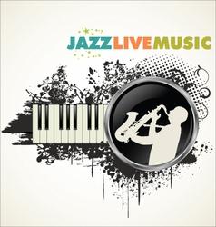 Grunge jazz banner vector image