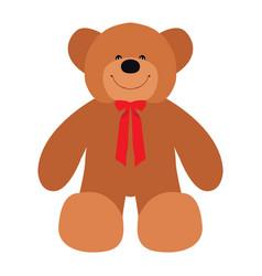 isolated teddy bear vector image