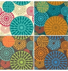 Seamless geometric tribal vintage patterns vector image