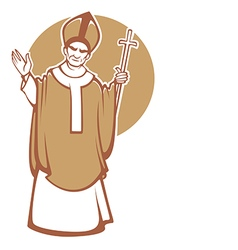 The Pope vector image vector image