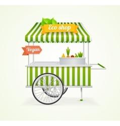 Vegetarian Shop Cart vector image vector image