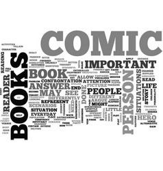 why comic books are important text word cloud vector image vector image