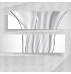 3D Abstract Banners vector image