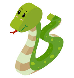 3d design for rattle snake vector