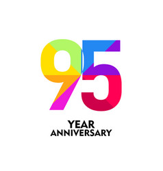95 year anniversary template design vector
