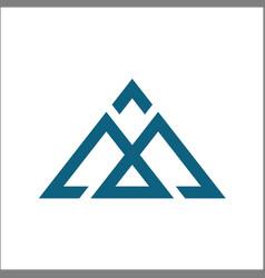 Abstract m logo template vector