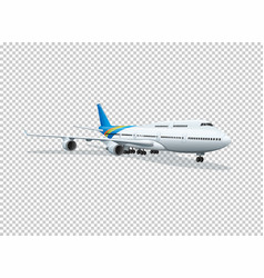 airplane on transparent background vector image vector image