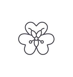 alstroemeria flower line icon concept vector image