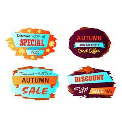 autumn big sale best offer vector image