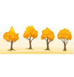 autumn trees set vector image