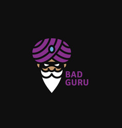 bad guru logo vector image