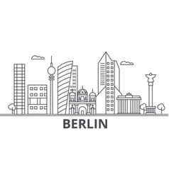 Berlin architecture line skyline vector
