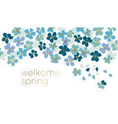 blue little flower blossom vector image