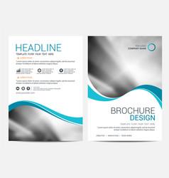 brochure template flyer design background vector image