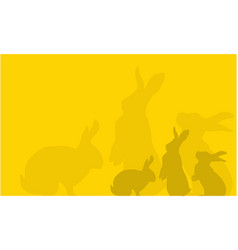 Bunny easter backgrounds vector